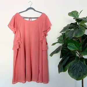 Umgee Cocktail Dress in coral